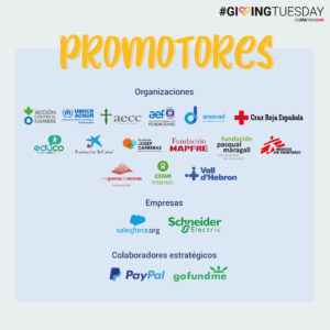 Organizaciones promotoras de giving Tuesday
