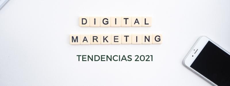 móvil que simboliza las tendencias de marketing digital en 2021