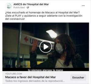 vídeo de la canción de homenaje de Macaco a l'Hospital del Mar